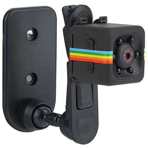Alomejor Mini Telecamere Senza Fili, SQ11 HD 1080P Registratore DV a Infrarossi con Visione Notturna e Rilevazione di Movimento per Uso Interni Esterni(Nero)