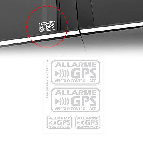 4R Quattroerre.it 6220 Adesivi Allarme GPS Veicolo Controllato