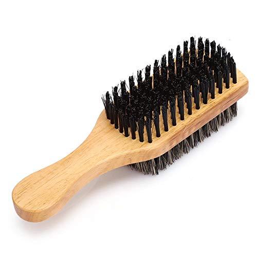 Brosse à barbe, poils et visage en nylon Barbe propre peigne Brosse à barbe double face pour les soins de la barbe(#1)