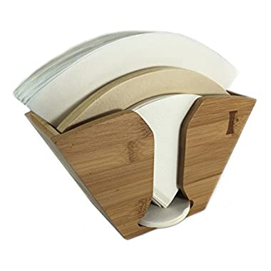 Bamboo Coffee Filter Holder for Aeropress, Chemex and Hario Pour Over filters