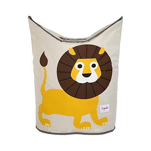 3 Sprouts Baby Laundry Hamper Storage Basket Organizer Bin for Nursery, Lion3 Sprouts Baby Laundry Hamper Storage Basket Organizer Bin for Nursery, Goat