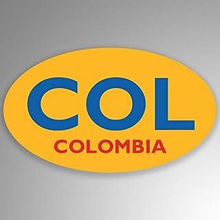 JMM Industries Colombia Abbr. Pegatina de Vinilo para Parachoques de Ventana de Coche, Paquete de 2, 5 Pulgadas por 3 Pulgadas, Ovalada, Laminado Resistente a los Rayos UV PDS646
