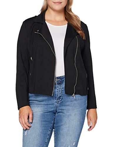 ONLY Carmakoma Damen CARGOLDTRASH Biker Jacket Jacke, Black, L-50/52