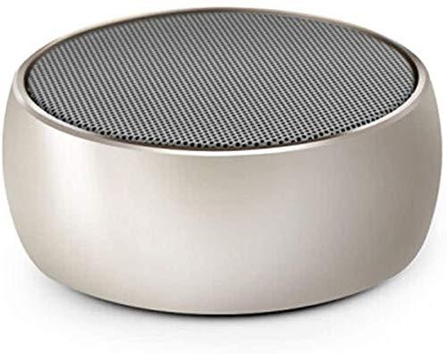 Mopoq Drahtlose Bluetooth-Lautsprecher - bewegliche Mini-Karte Kleiner Ton Metall Kanone Subwoofer-Computer Externer Musik-Player-Auto-Lautsprecher (Color : C)