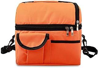 シンプルライフ、ライフアシスタント ランチバッグ再利用可能な断熱バッグ多機能防水断熱ランチボックス(ブラック)、オックスフォード布、防水アルミニウムフィルム (色 : オレンジ)