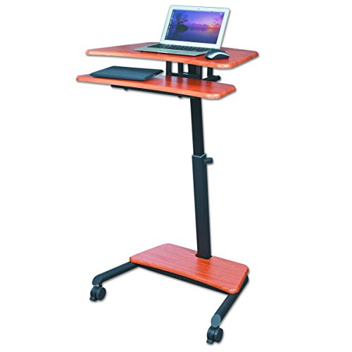 "Balt Up-Rite Workstation Sit/Stand Desk, Height Adjustable, , Cherry, 28.5"" - 45.5""H x 27.5""W x 22.5""D"