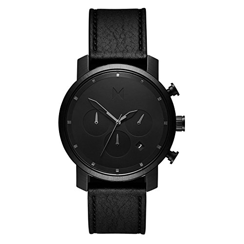 MVMT Reloj Cronógrafo para Hombre de Cuarzo con Correa en Cuero D-MC02-BLBL