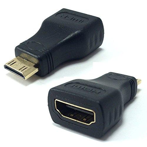 Cable adaptador de miniHDMI (tipo C) a HDMI hembra estándar (tipo A), ideal para conectar Asus Eee Pad a TV, HDTV, Plasma o monitores con conexión HDMI, de DragonTrading®