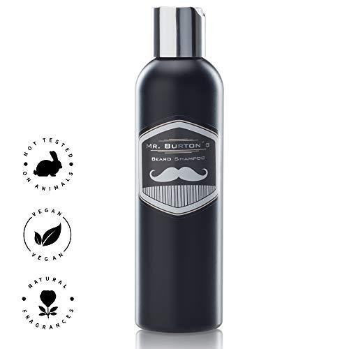 Bartshampoo Testsieger 2020 Mr. Burton´s classic (200ml) -milde Pflege ohne Silikone mit Arganöl Panthenol und Vitamin E und dem unverwechselbaren Duft, passend zum Bartöl und Beard Balm