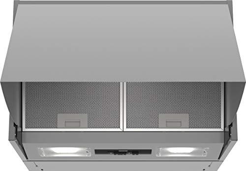 Siemens LE63MAC00 iQ100 Dunstabzugshaube / Zwischenbauhaube / 59,9 cm / Metall-Fettfilter / Drucktastenschalter / Silber