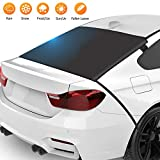 ZSVJYLO Car Rear Windshield Snow Ice Cover Protector with Straps and Magnets, Rear Windscreen Snow Cover with 4 Magnets, Frost Protection and Anti-Icing for Most Cars