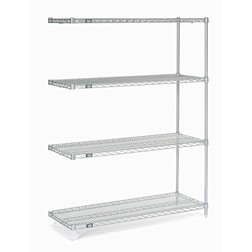 Chrome Wire Shelving Add-On, 48'W X 14'D x 54'H