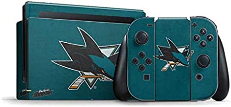 Skinit Decal Gaming Skin for Nintendo Switch Bundle - Officially Licensed NHL San Jose Sharks Distressed Design