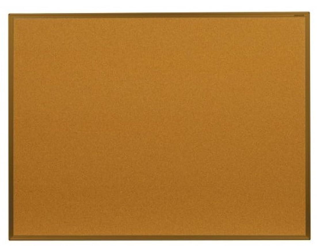 シリンダー無限大チューブ馬印 コルク掲示板(ワンウェイカラーアルミ枠) W1210×H910mm KBC34C【同梱?代引不可】