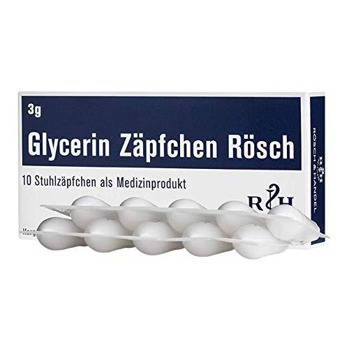 Glycerin Zäpfchen Rösch 3g (10 Stuhlzäpfchen)