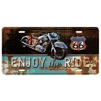ivAZW Autobús Motocicleta Coche Placa de matrícula de Metal Decoración para el hogar Vintage Cartel de Chapa Garaje Decorativo Cartel de Metal Pintura de Metal Placa MPA2620