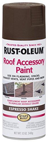 Rust-Oleum 286117 Roof Accessory Spray Paint, 12 oz, Espresso Shake/Brown