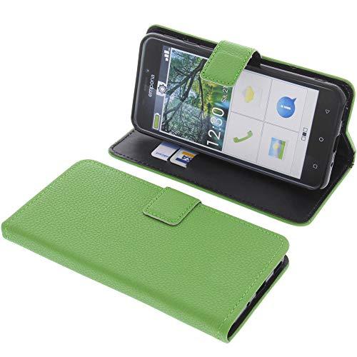 foto-kontor Tasche für Emporia Smart 3 Book Style grün Schutz Hülle Buch