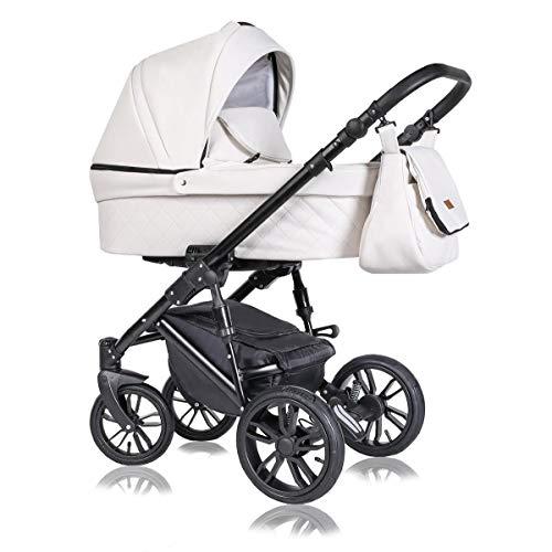 Stroller 3 en 1 juego completo con asiento de coche Isofix baby tub baby carrier Buggy Star de ChillyKids Milk Cream 07 3en1 con asiento