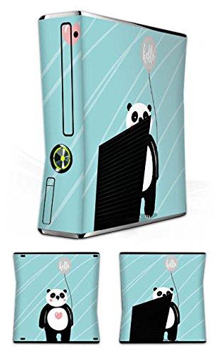 Skin kompatibel mit Microsoft Xbox 360 Slim Aufkleber Folie Sticker Panda Comic Zeichentrick