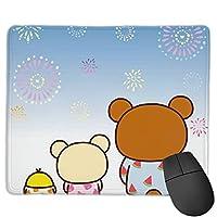 マウスパッリラックマ 多用途の 滑り止め 耐久性が良い マウスパッド パソコン 周辺機器 アニメ スクマット キーボードパッドone Size