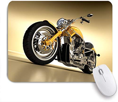 Aliciga Gaming Mouse Pad Rutschfeste Gummibasis,Eisen benutzerdefinierte ästhetische Hobby Motorrad futuristische moderne Spiegel Reiten,für Computer Laptop Office Desk,240 x 200mm
