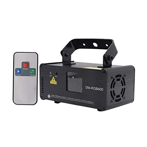 Remote RGB 400mW DMX512 Laser Line Scanner Stadiums-Lichteffekt-Projektor-Licht DJ Dance Bar Xmas Party Disco Show Lichter Bühnenlampen 3.16