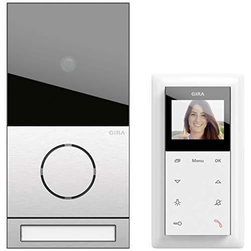 Gira EFH-Paket Video 2416000 Edelstahl System 106 Türsprech-Set 4010337033943