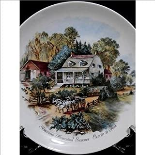 American Homestead Summer Currier and Ives Plate