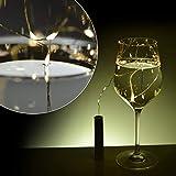Flaschen Lichter Flaschenlicht AA Batteriebetrieben, 8er Pack 20-LED 39 inch warm-weiß Korken Sternenklar Kabel Lichterkette für Flaschen zum Selbermachen, Valentinstag, Party, Festliches Dekor LG04 - 6