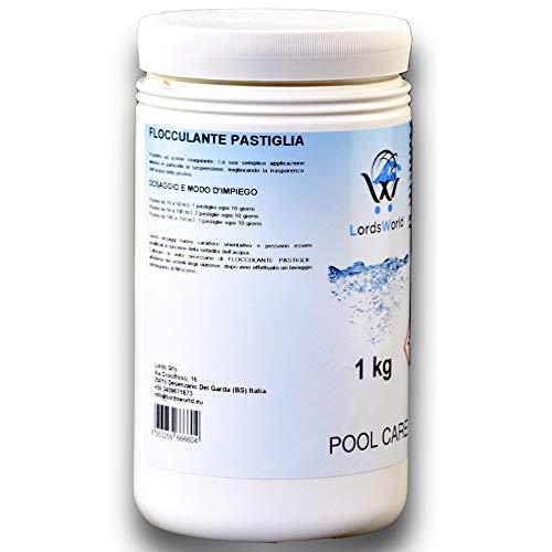 LordsWorld Pool Care - 1Kg Floculante líquido Aclarador Piscina de Agua Anti-turbiedad - para el Tratamiento y Mantenimiento de la Piscina de Agua - Anti Turbidez - FLOCCULANTE-1kg