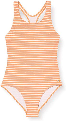Schiesser Mädchen Badeanzug, Gelb (Apricot 603), 152