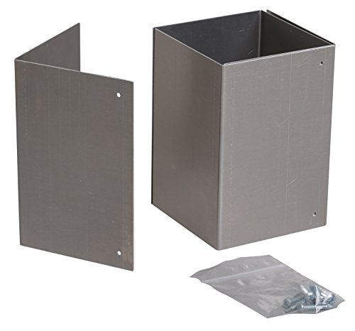 6x6 Rust-Free, Adjustable Trimmer Guard for Mailbox Post Protection