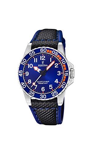 Festina Jungen Analog Quarz Uhr mit Leder Armband F20460/2