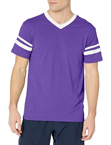 Augusta Sportswear Men's Large Augusta Sleeve Stripe Jersey, Purple/White