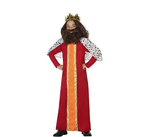 Atosa-31596 Disfraz Rey Mago Niño Infantil, color rojo, 5 a 6 años (31596)