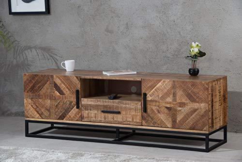 DuNord design TV-meubel hout mango massief TV-lowboard sideboard 160 cm