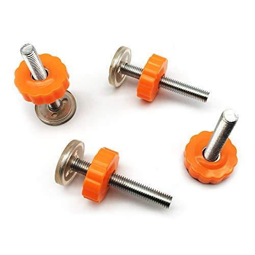 FUJIE 4 Stück Druckschrauben für Kindergitter oder Gitter Haustier Baby Gate Screw Bolts Drucktore Gewindespindelstangen Schrauben Kit für Treppengitter, M10 x 10 mm