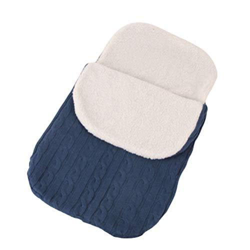 Manta para bebé suave y gruesa de punto de forro polar para cochecito de bebé, manta para siesta, más bolsa de dormir de terciopelo cálido para bebé o niño