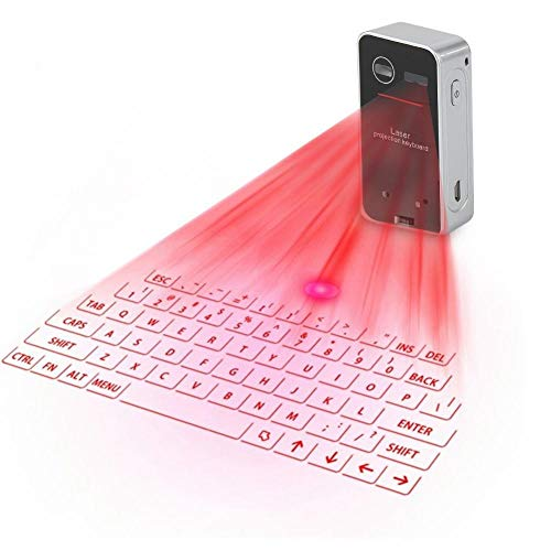 Eboxer Portable Mini Wireless Bluetooth Tastatur Projektor Projektion Tastatur Maus für Tablet-Telefon Computer (schwarz)