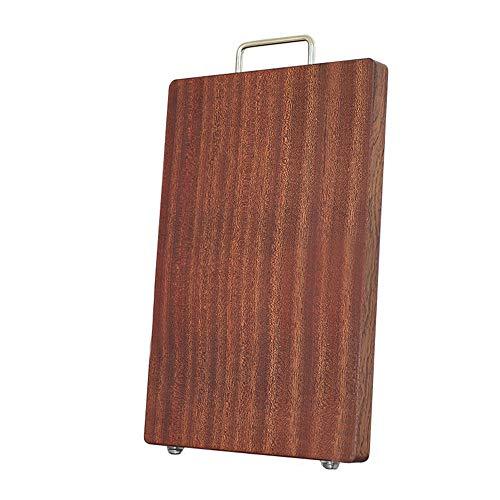 MAATCHH Azulejos de Madera Maciza Ebony Wood Bitching Board Cocina Tablero Multifuncional para el hogar para la Carne, Verduras para Carne y Verduras (Color : Multi-Colored, Size : 45X30X3CM)