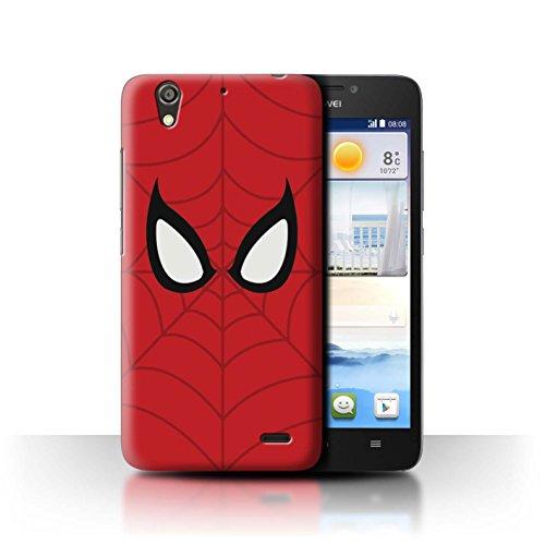 Hülle Für Huawei Ascend G630 Superheld Comic-Kunst Spider-Man Maske Inspiriert Design Transparent Ultra Dünn Klar Hart Schutz Handyhülle Case