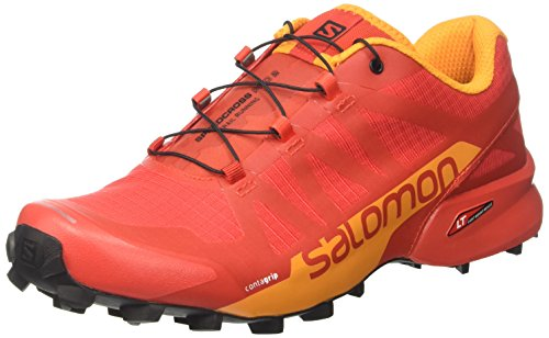 SALOMON Herren Speedcross Pro 2 Kletterschuhe, Mehrfarbig (Fiery Red/Bright Mar/bk), 46 EU