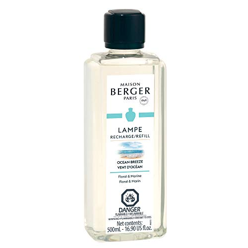 Ocean Breeze - Lampe Berger Fragrance Refill for Home Fragrance Oil Diffuser - 16.9 Fluid Ounces - 500 milliliters