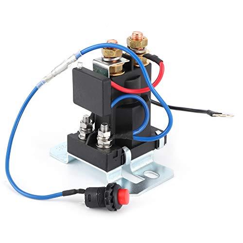 Relé de arranque automático 12V DC 200 Amp Contactor de vehículo Baterías dobles Control de aislador Interruptor de encendido/apagado, servicio pesado, alta corriente, con accesorio de conexión