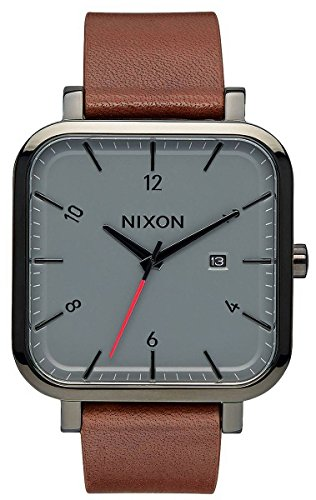 Preisvergleich Produktbild Nixon Herren Analog Quarz Uhr mit Leder Armband A939-017-00