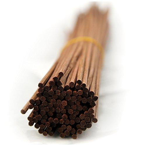 Ougual 100 Pezzi Bastone di rimontaggio del diffusore del Reed del Rattan per aromi e profumi (30cm*3mm, Marrone)