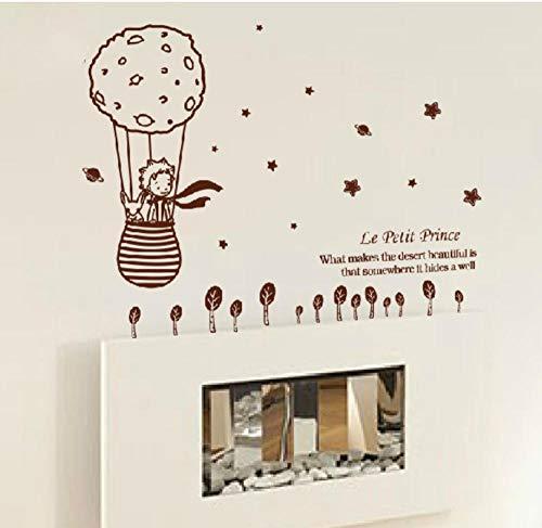 Preisvergleich Produktbild wwwff Schöne kreative Größe 112, 5x98 cm für Kinderzimmer kleiner Prinz und der Fuchs Entfernbare Wandaufkleber Wohnkultur