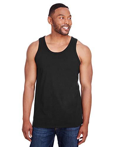 Champion Mens Ringspun Cotton Tank Top (CP30) -Black -XL