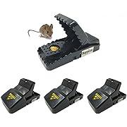 Buyplus Rat Traps - Big Mouse Trap Snap Power Rodent Killer(4 Pack), Mice Trap,Sensitive Reusable and Durable (4 Pack rat traps)